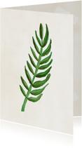 Botanische woonkaart met een illustratie van een blad