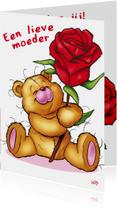 bristy moederdag 3 beer roos.