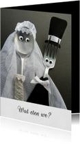 Bruiloft Menukaart - bruidspaar