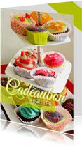 Cadeaubon High Tea met foto van cakejes