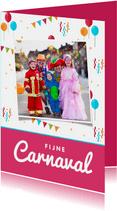 Carnavalskaart feestelijk ballonnen confetti foto