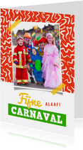 Carnavalskaart kleurrijk confetti foto fijne carnaval