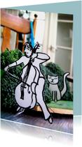 Cello speler met kat