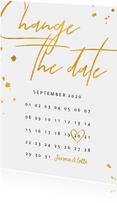 Change the date kalender goud stijlvol
