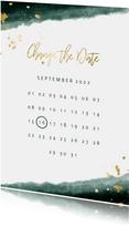 Change the date kalender waterverf gouden tekst
