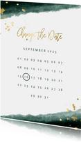 Change-the-Date-Karte zur Hochzeit mit Kalender
