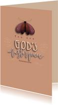 Christelijk kaartje met bijbeltekst en vlinder
