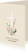 Christelijke felicitatie kruis