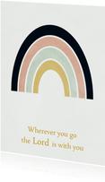Christelijke kaart regenboog, aanpasbare tekst