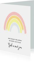 Christelijke kaart regenboog