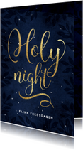 Christelijke kerstkaart Holy Night