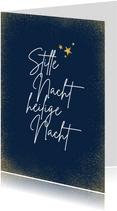 Christelijke kerstkaart 'Stille nacht heilige nacht'