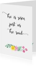 Christelijke paaskaart bloem