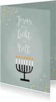 Christliche Weihnachtskarte Licht der Welt