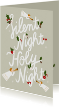 Christliche Weihnachtskarte Silent Night Holy Night