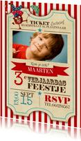 Circus Ticket Uitnodiging Jongen feestje