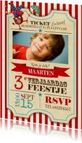 Circus Ticket Uitnodiging Jongen