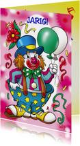 clowns verjaardag 1 clown twee ballonnen