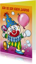 clowns verjaardag 6 kinderclowntje