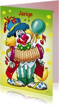clowns verjaardag 7 clown met accordeon