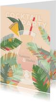 Cocktailparty Tropische Blätter