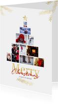 Collage kerstboom wit rechthoekig voor 10 foto's
