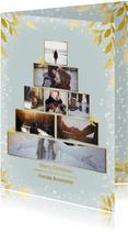 Collage kerstkaart kerstboom rechthoekig voor 8 foto's