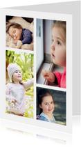 Collage Kinderfeestje met 4 foto's