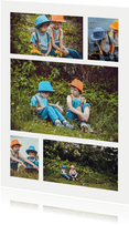 Collage met 5 foto's