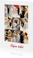 Collage trouwkaart - Bruidsparen