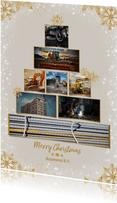 Collage zakelijke kerstboom rechthoekig voor 8 foto's