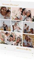 Collagekaart met 7 eigen foto's