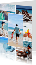 Collagekaart staand sjabloon met 7 foto's