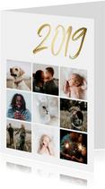 Collagekaart stijlvol '2019' goud