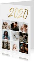 Collagekaart stijlvol '2020' goud