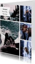 Collagekaart trendy met 5 foto's