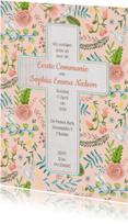 Communie Bloemen en Duiven Kruis