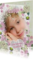 Communie Meisje Bloemen Duifje R