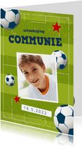 Communie uitnodiging voetbal