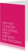 Concert des levens