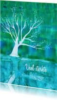 Condoleance boom weerspiegeling