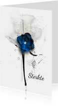 Condoleance kaart donker blauw