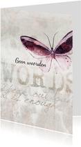 Condoleance kaart vlinder words