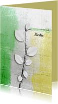 Condoleancekaarten - Condoleancekaart abstract blad wit