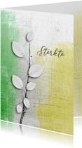 Condoleancekaart abstract blad wit