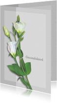 Condoleancekaart bloemen op grijze vlakjes