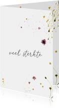 Condoleancekaart bloemen - veel sterkte