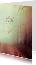 Condoleancekaart bospad in mist