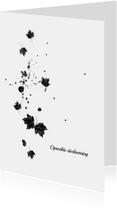 Condoleancekaart falling leaves