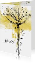 Condoleancekaart inkt bloem